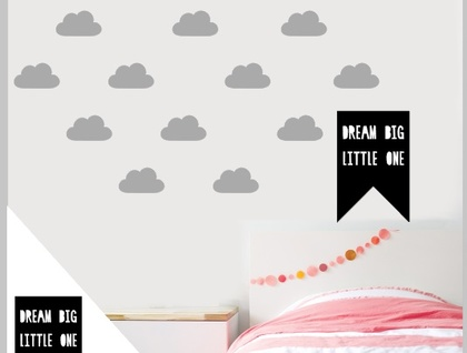"""Dream Big Little One"" Wall decal flag A4"