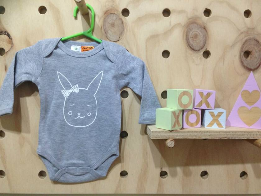 Bow Bunny Bodysuit - 3-6months