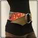 Reversible Wide Belt with Floral Fruit print