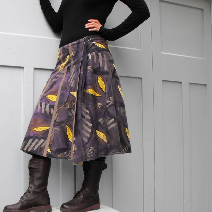 Kina Colour wearable art wraparound skirt