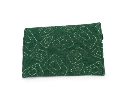 Vintage fabric clutch