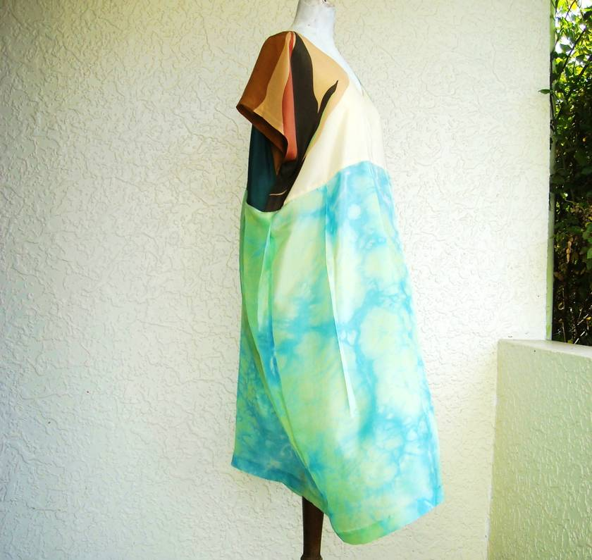 Sea foam silk dress