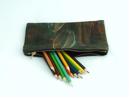 Pohutukawa  leaf  clutch purse/ pencil case