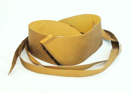 Obi style belt in gold silk.