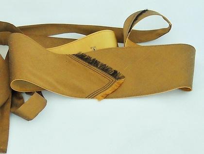 Obi style belt in gold silk.