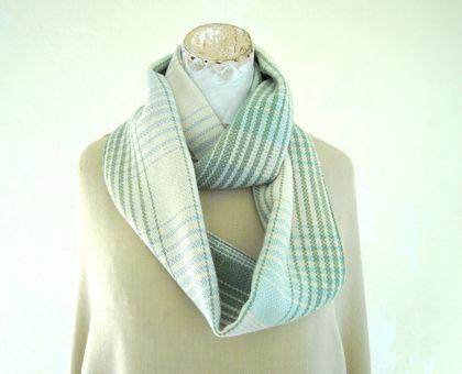 scarf in plaid blanket