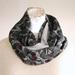 floral  silk infinity scarf