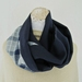 fine wool infinity scarf in vintage fabrics