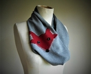 Red fox  infinity scarf
