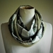 Infinity scarf in vintage silk and wool