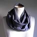 Wool  gaberdine infinity scarf