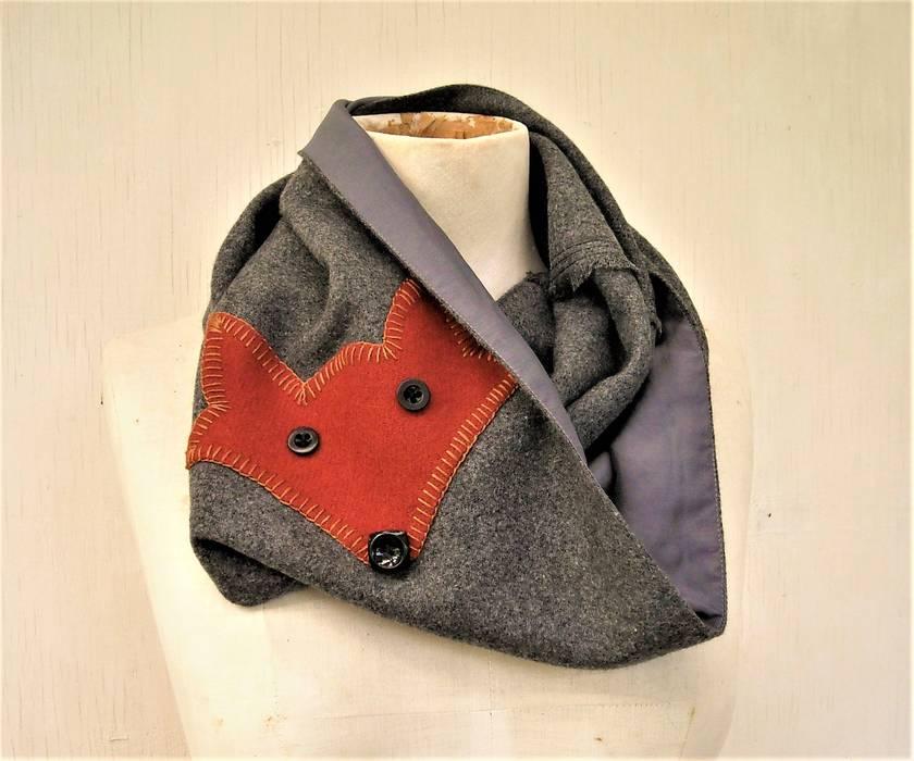 Brown fox  infinity scarf