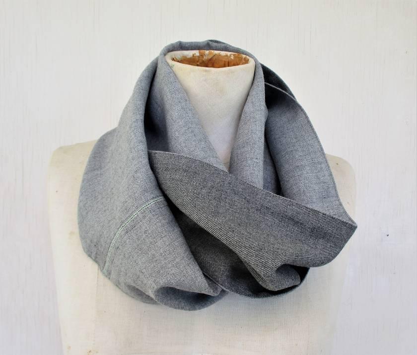 vintage  wool / rayon infinity scarf