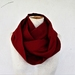 red wool infinity scarf