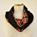 Choc and orange plaid infinity scarf