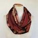 russet velvet  infinity scarf