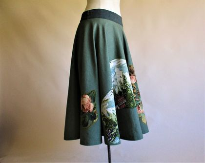 Circle Skirt with applique