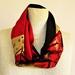 Silk & cotton infinity scarf