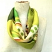 Vintage fantail infinity scarf