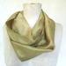 Mustardy gold silk  infinity scarf