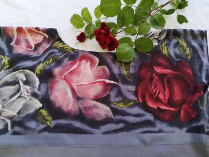 silk dress with roses