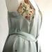 Silk dress in pale sage