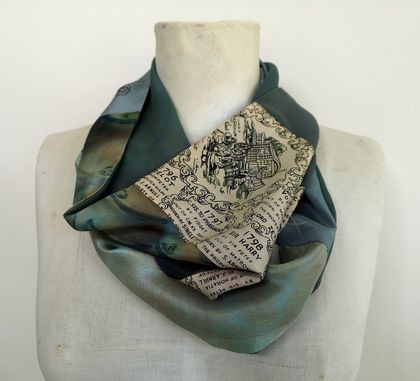 Patchwork  infinity scarf