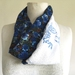 Infinity scarf in blues