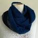Wool infinity scarf in blues