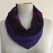 Infinity scarf in purple print and silk