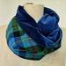 Velvet and tartan infinity scarf
