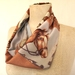 Patchwork horse infinity scarf