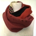 Scarf in wool and silk