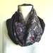 floral  silk infinity scarf