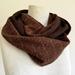 Chocolate wool infinity scarf