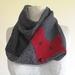 Red fox  woolen  infinity scarf