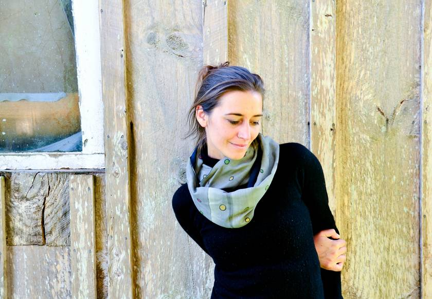 spotty infinity scarf