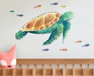 Watercolour Turtle Fabric Wall Decal