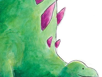 Jeff the Dinosaur - A4 Print of Original Watercolour Painting