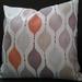 tangerine lavender geometric cushion cover  45 x45cm