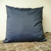 demin cushion cover  -  navy cushion - chambray cushion cover - dark blue cushion 45 x 45 cm