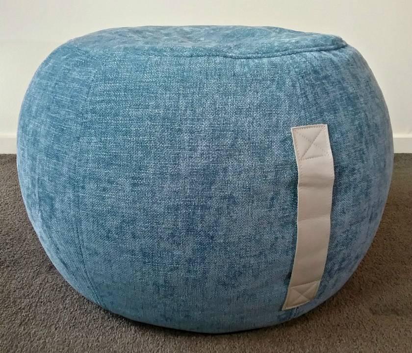 Peachy Bean Bag Ottoman Round Ottoman Pouf Duck Egg Blue Pouf Blue Machost Co Dining Chair Design Ideas Machostcouk