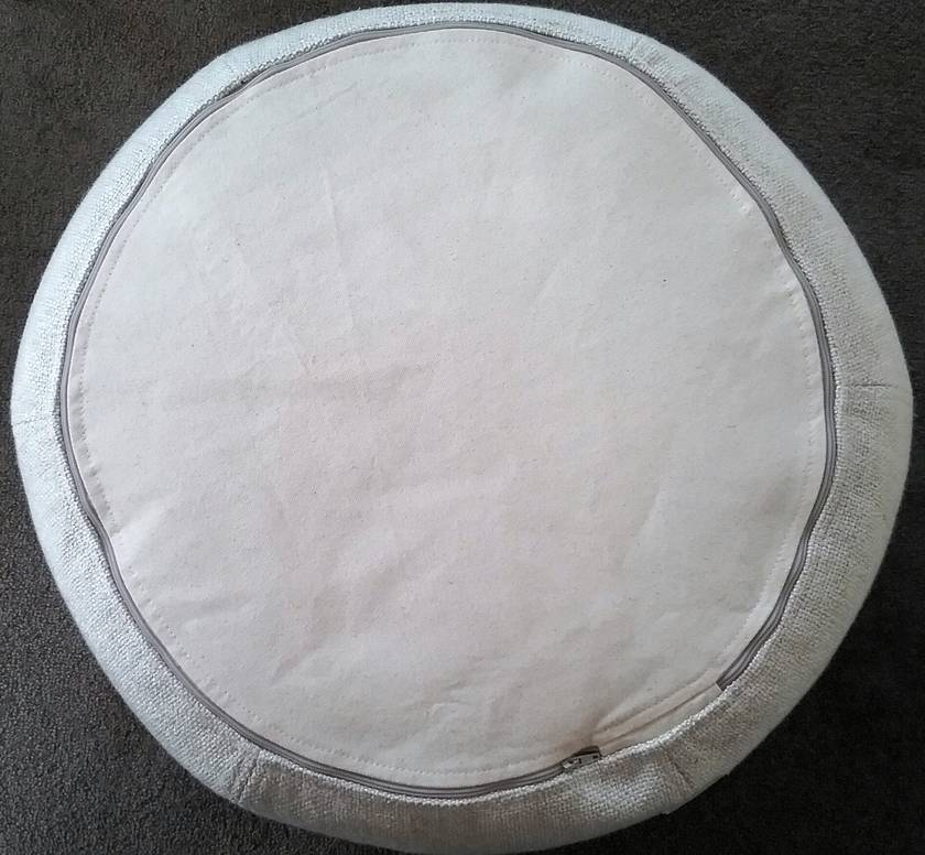 ottoman pouf, cream pouf, neutral round pouf, beanbag pouf, bean bag ottoman,  floor cushion, pouffe