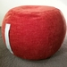 ottoman pouf, tangerine color pouf, round pouf, beanbag pouf, bean bag ottoman, orange velvet floor cushion, ottoman pouf, orange pouffe