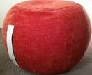 ottoman pouf, tangerine color pouf, round pouf, beanbag pouf, bean bag ottoman, orange velvet floor cushion, ottoman pouf, orange pouffe