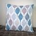 blue beige grey white geometric cushion cover  45 x45cm