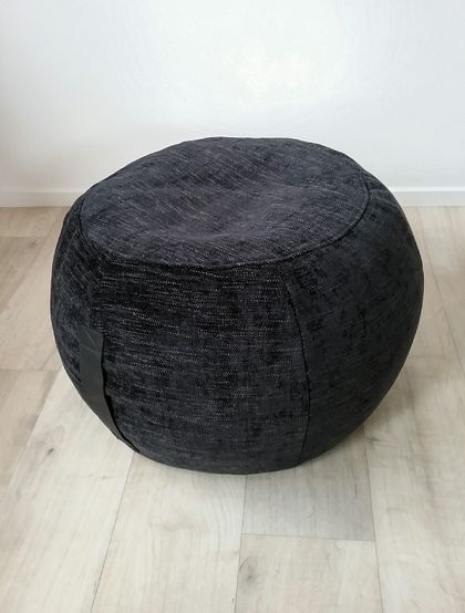 Ottoman Pouf Black Color Pouf Round Pouf Beanbag Pouf