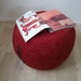 ottoman pouf, terracotta color pouf, round pouf, beanbag pouf, bean bag ottoman, russet velvet floor cushion, brick red ottoman pouffe