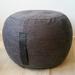 charcoal grey ottoman pouf, grey pouffe, round pouf, beanbag pouf, bean bag ottoman, grey floor cushion, ottoman pouffe, anthracite grey