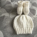 KNITTTED HAT AND BOOTEE SETS